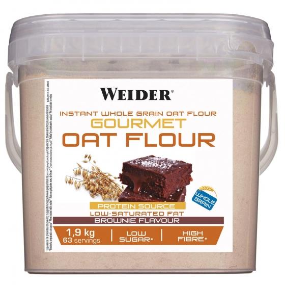 Harina de avena integral instantánea Weider 1,9 kg.