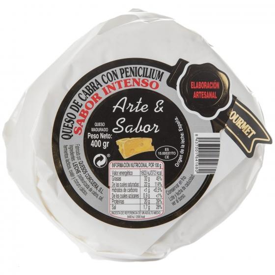 Queso de cabra intenso con penicilium Arte y Sabor pieza 400 g - 1