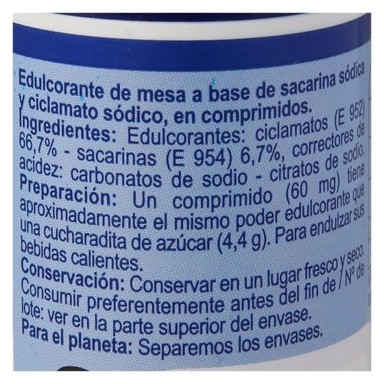 Edulcorante ciclamatos y sacarina Carrefour 650 ud. - 1