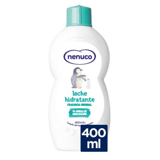 Leche hidratante para bebé fragancia original Nenuco 400 ml.