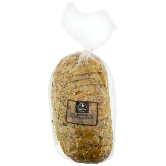 Pan payés 5 cereales con semillas de calabaza rebanado 490 g