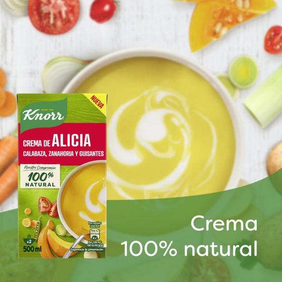 Crema de calabaza, zanahoria y guisantes Knorr 500 ml. - 1
