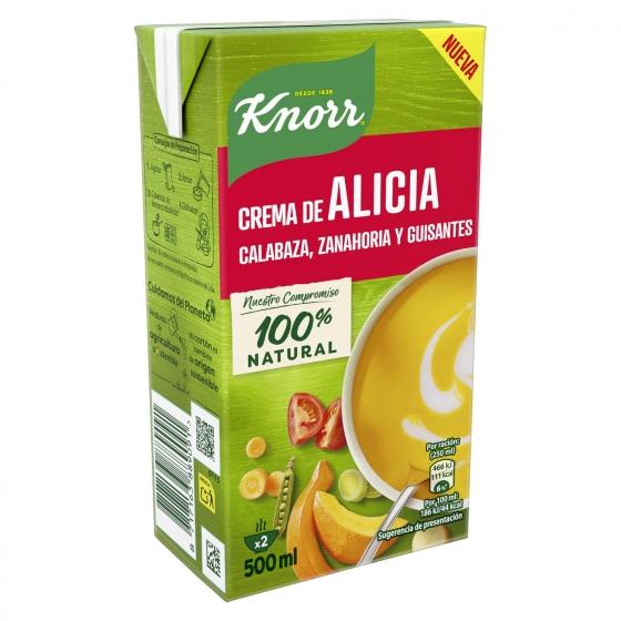 Crema de calabaza, zanahoria y guisantes Knorr 500 ml. - 4