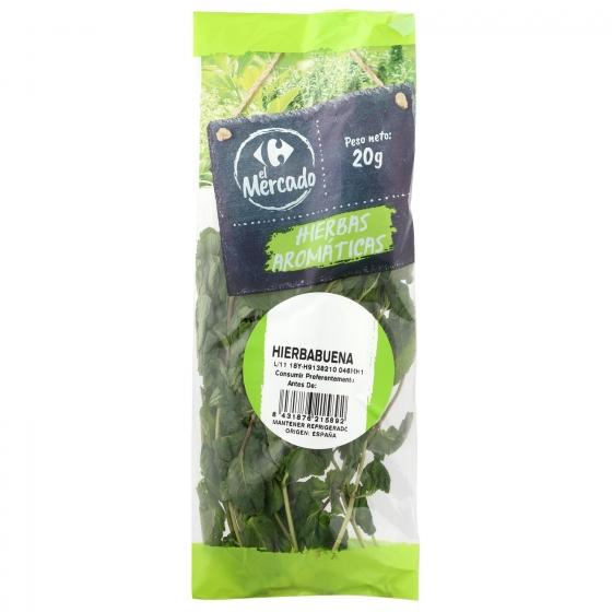 Hierbabuena fresca cortada Carrefour bolsa 20 g - 1