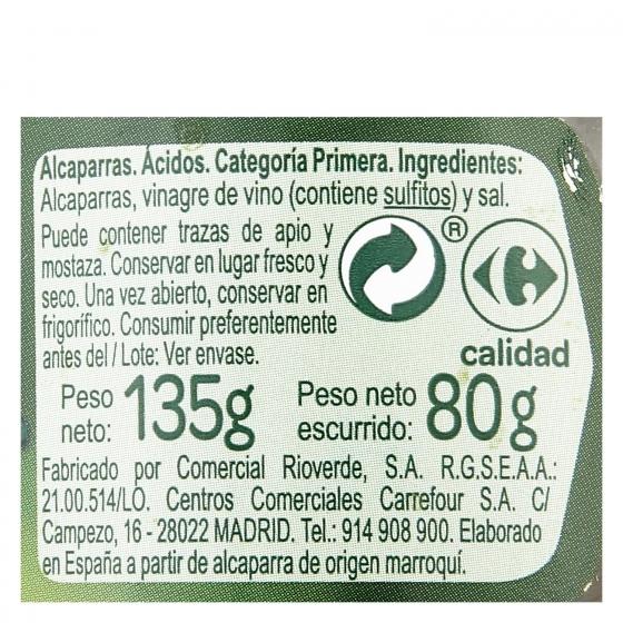 Alcaparras Carrefour 80 g. - 1