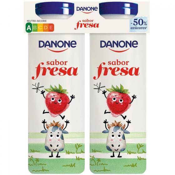 Yogur líquido de fresa Danone pack de 4 unidades de 155 g. - 1