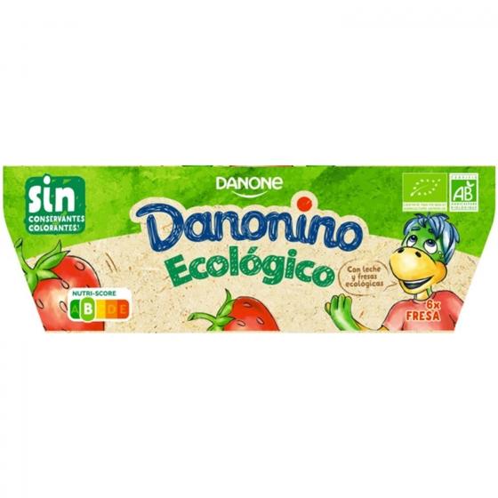 Petit de fresa ecológico Danone Danonino pack de 6 unidades de 50 g. - 3
