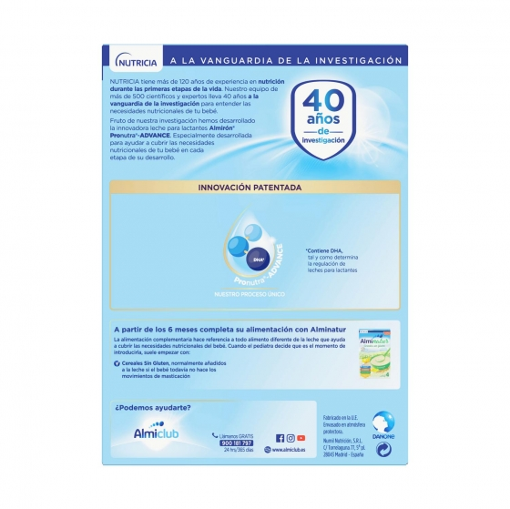 Leche infantil para lactantes desde el primer día en polvo Almirón Advance con Pronutra 1 lata 1200 g. - 3