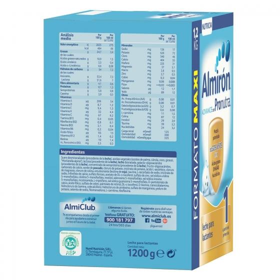 Leche infantil para lactantes desde el primer día en polvo Almirón Advance con Pronutra 1 lata 1200 g. - 5