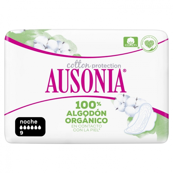 Compresas de noche ultra con alas Cotton protection Ausonia 9 ud. - 3