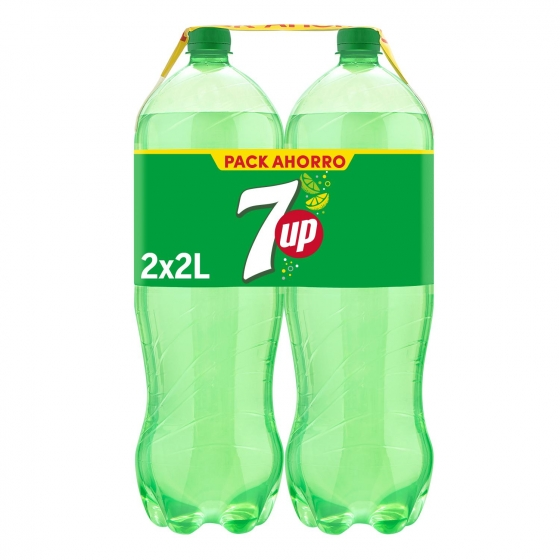 Refresco de lima-limón 7UP con gas pack de 2 botellas de 2 l.