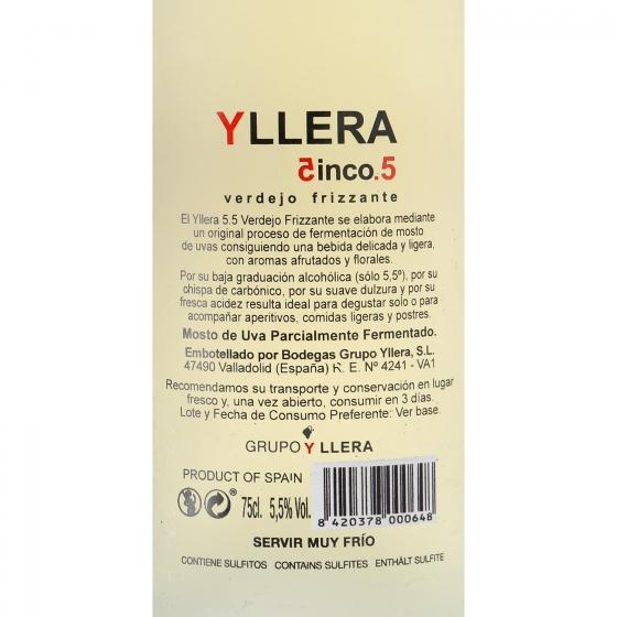 Vino blanco frizzante verdejo Yllera 5.5 75 cl. - 3