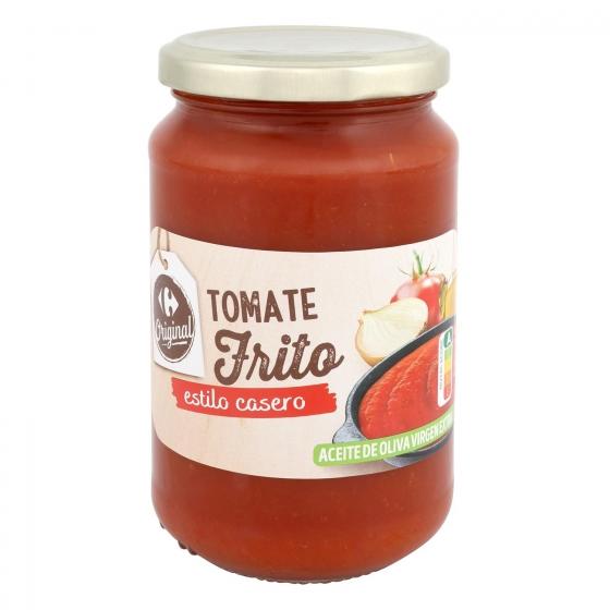 Tomate frito con aceite de oliva Carrefour tarro 350 g.