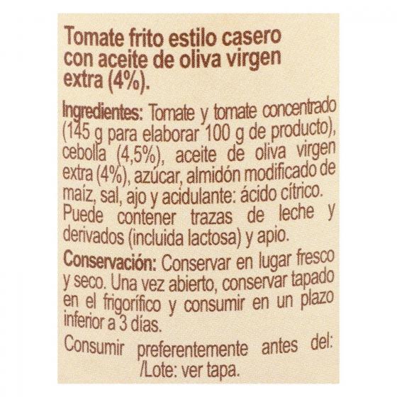 Tomate frito con aceite de oliva Carrefour tarro 350 g. - 1