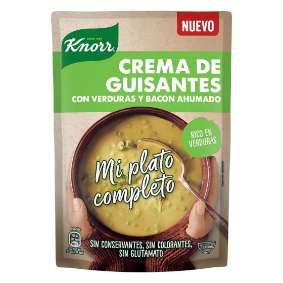 Crema de guisantes con verduras y bacon Knorr 375 ml.
