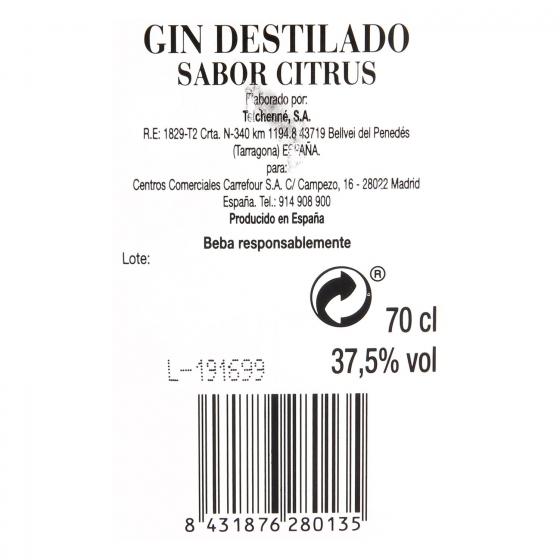 Ginebra Old Thames citrus 70 cl. - 1