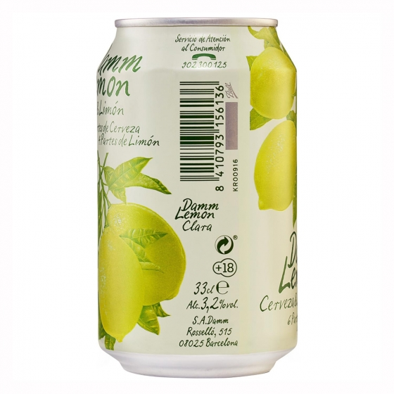 Cerveza Damm Lemon con limón lata 33 cl. - 3