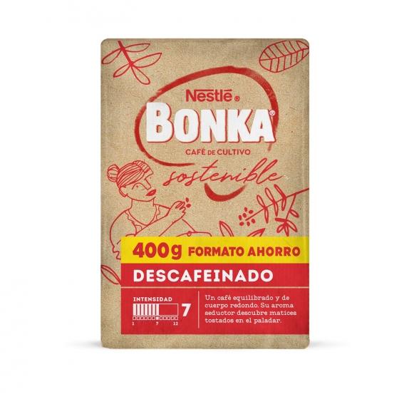 Café molido natural descafeinado cultivo sostenible Nestlé Bonka 400 g. - 1