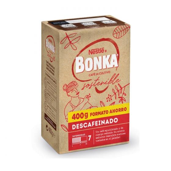 Café molido natural descafeinado cultivo sostenible Nestlé Bonka 400 g. - 3