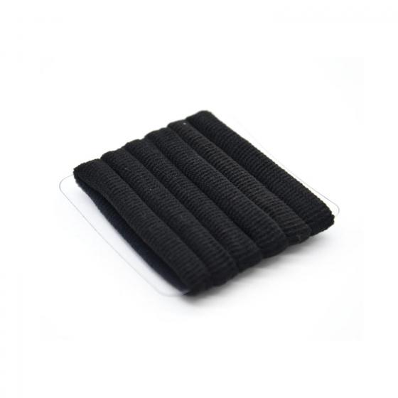 Goma de pelo negra básica Ponette 6 ud.