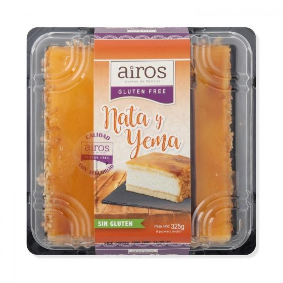 Tarta nata-yema sin gluten 300 g - 3