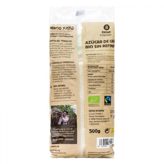 Azúcar de caña ecológico Intermón Oxfam 500 g. - 1