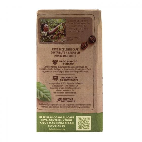 Café molido natural ecológico Oxfam Intermón 250 g. - 1