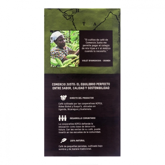 Café molido natural ecológico Oxfam Intermón 250 g. - 3