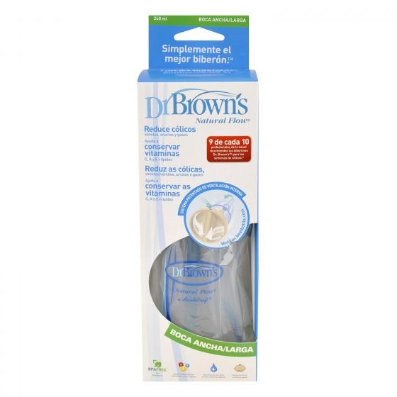 Biberón 240 ml de Boca Ancha Dr Brown