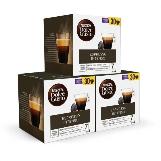 Café espresso intenso en cápsulas Nescafé Dolce Gusto 30 unidades de 8 g. - 1