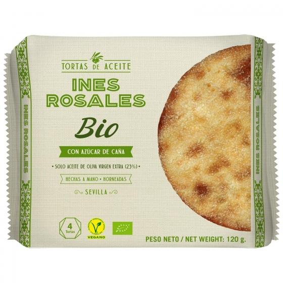 Tortas de aceite de oliva virgen extra ecológicas Inés Rosales 4 unidades de 30 g.