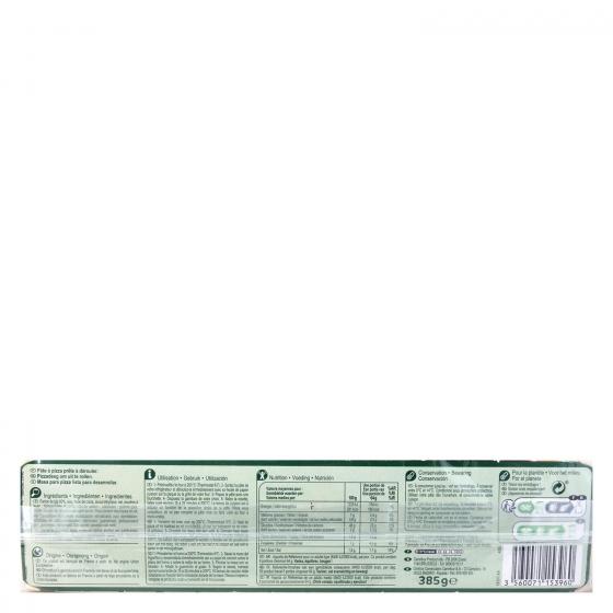 Masa maxi pizza Carrefour 385 g. - 1