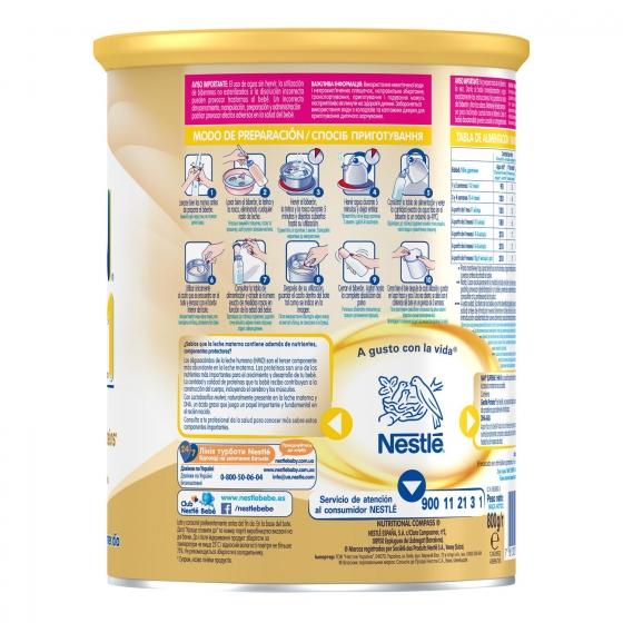 Leche infantil para lactantes desde el primer día en polvo Nestlé Nan Supreme 1 sin aceite de palma lata 800 g. - 4