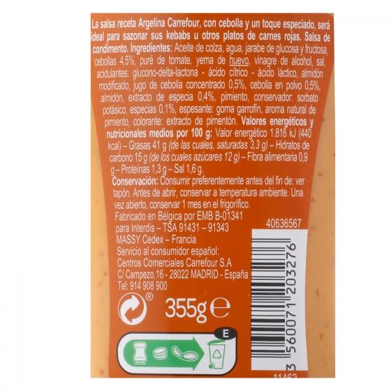 Salsa argelina Carrefour envase 355 g. - 1