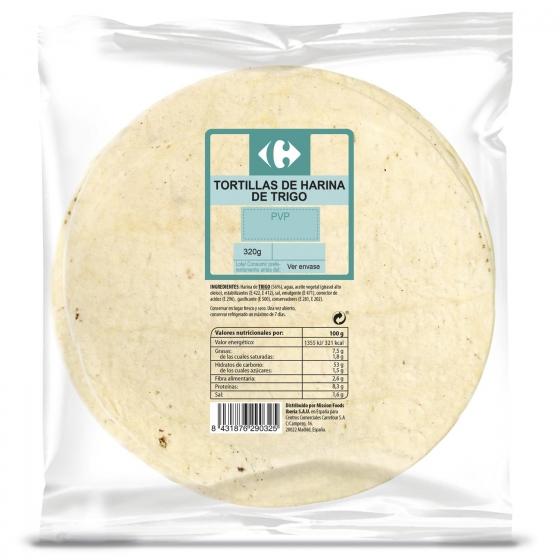Tortilla wrap de trigo 320 g