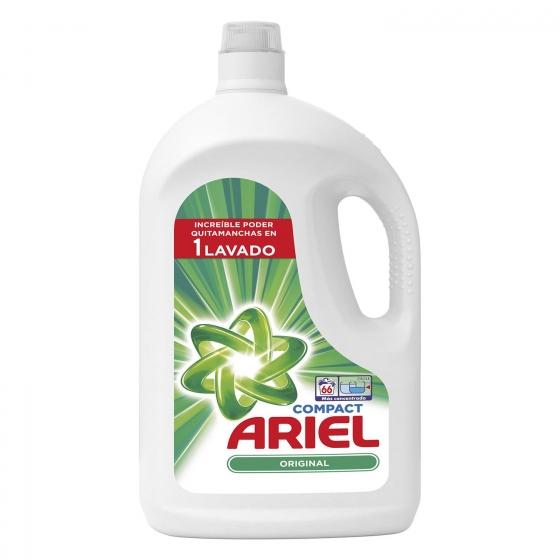 Detergente líquido Compact Ariel 66 lavados
