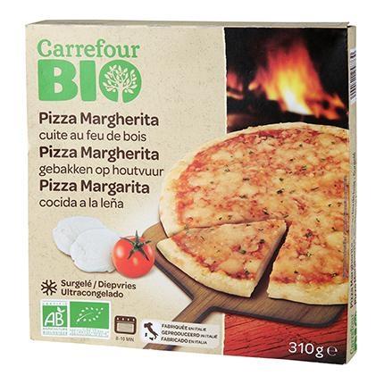 Pizza margarita ecológica Carrefour Bio 310 g.