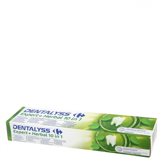 Dentífrico expert + herbal 10 en 1 Dentalyss 75 ml.