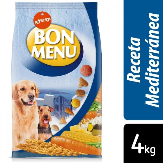 Pienso para perro adulto bon menú Receta Mediterránea 4 Kg.