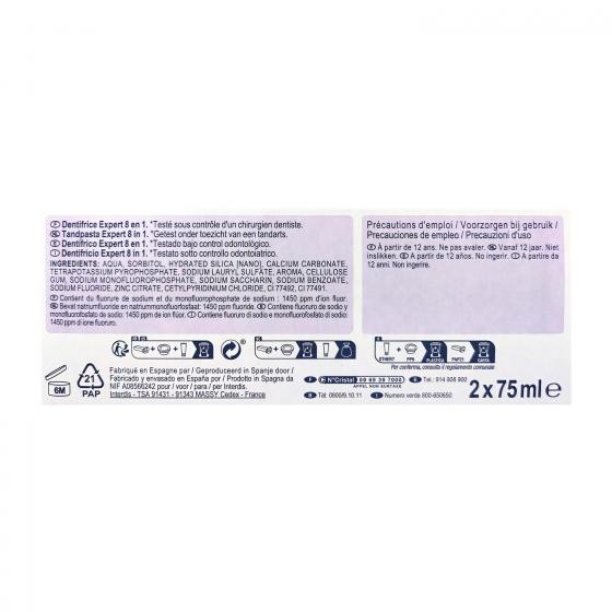 Dentífrico Espert 10 en 1 Dentalyss pack de 2 unidades de 75 ml. - 1