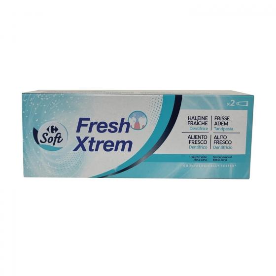 Dentífrico Fresh Dentalyss pack de 2 unidades de 75 ml.