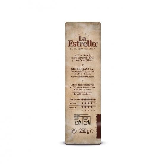 Café molido mezcla express La Estrella pack de 2 unidades de 250 g. - 1