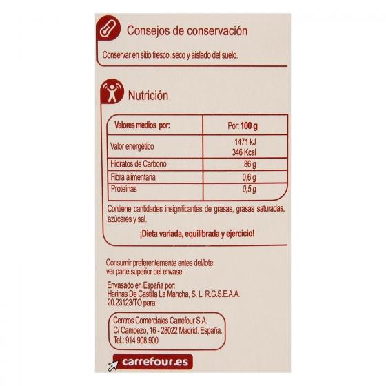 Harina de maiz fina sin gluten Carrefour 400 g. - 1
