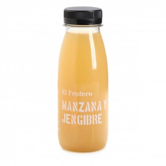 Zumo de manzana y jengibre El Frutero botella 25 cl