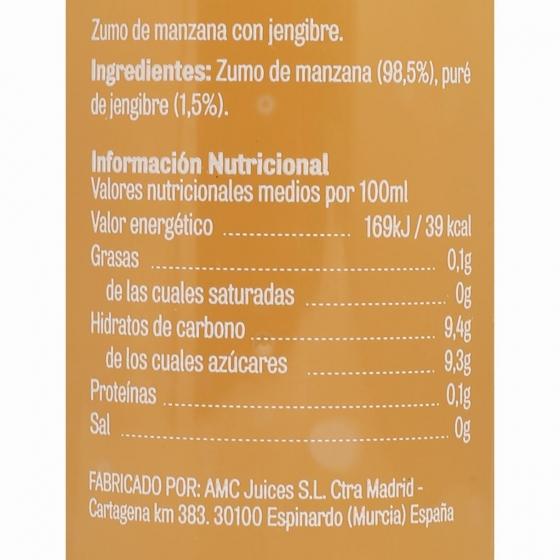 Zumo de manzana y jengibre El Frutero botella 25 cl - 4