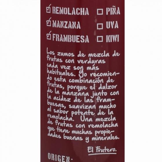 Zumo de remolacha, frambuesa y manzana El Frutero botella 75 cl. - 4