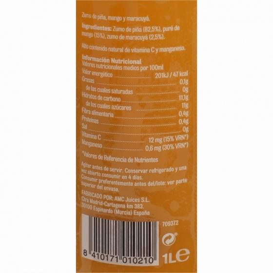 Zumo de piña, mango y maracuyá El Frutero botella 1 l. - 4