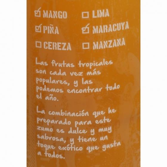 Zumo de piña, mango y maracuyá El Frutero botella 1 l. - 5