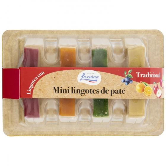 Mini lingotes de paté Lacuína 4 unidades de 40 g.