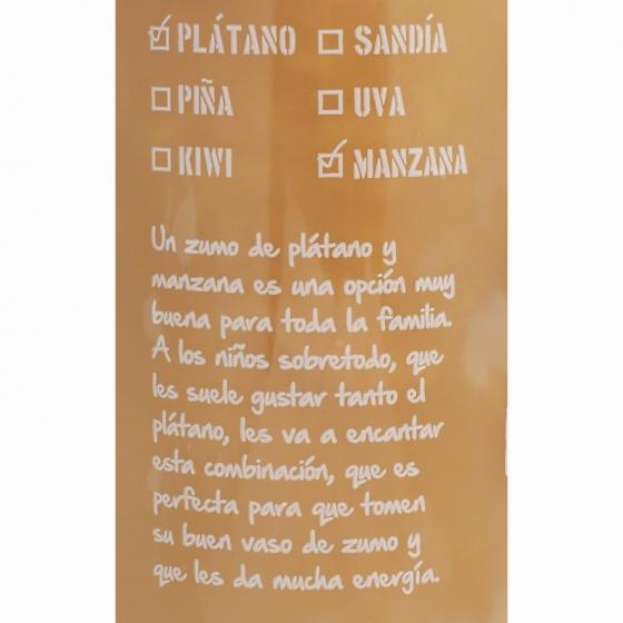 Zumo de plátano y manzana EL Frutero botella 75 cl. - 4